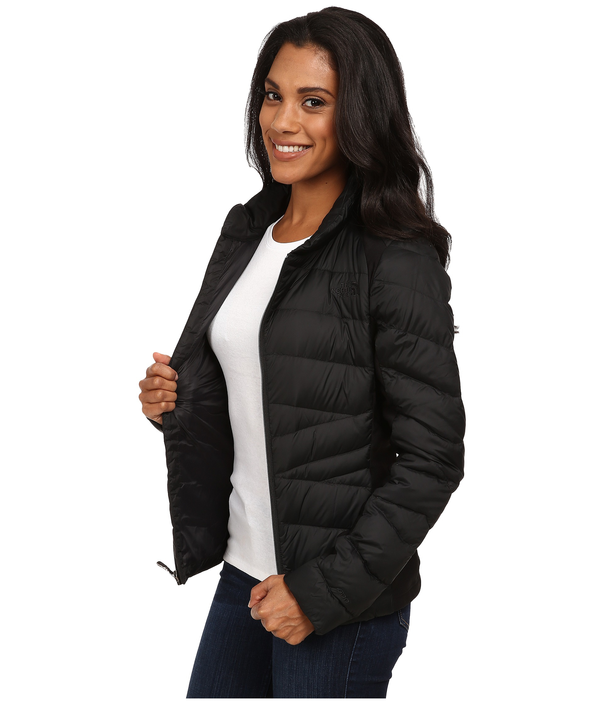 15e4285b30ff Lyst - The North Face Lucia Hybrid Down Jacket in Black