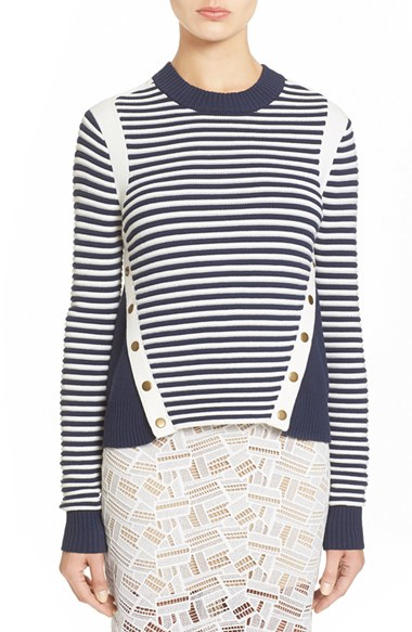 Outlet Where Can You Find Veronica Beard striped knitted jumper Low Price Fee Shipping Online Popular IFJXut4PGr