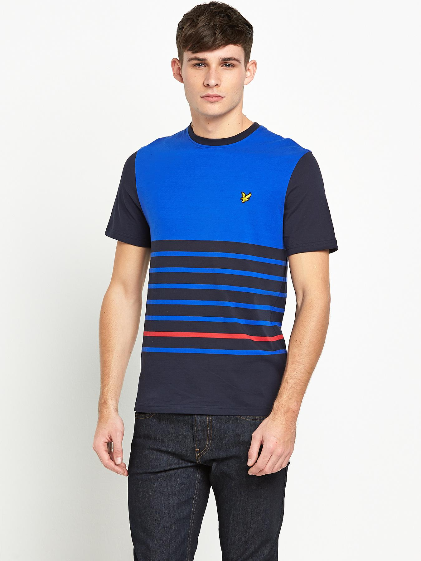 lyle scott mens short sleeve breton stripe t shirt in. Black Bedroom Furniture Sets. Home Design Ideas