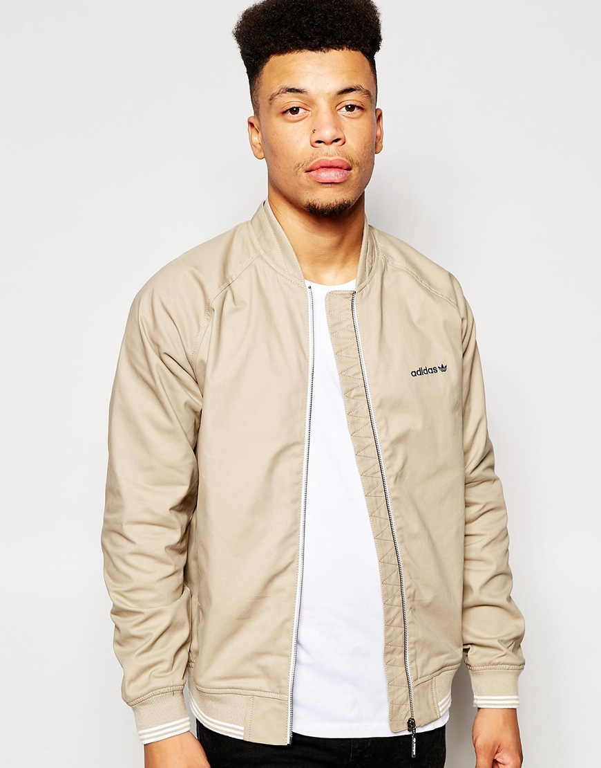 Lyst - adidas Originals Sst Fz Woven Jacket in Natural for Men f0ac4cb382