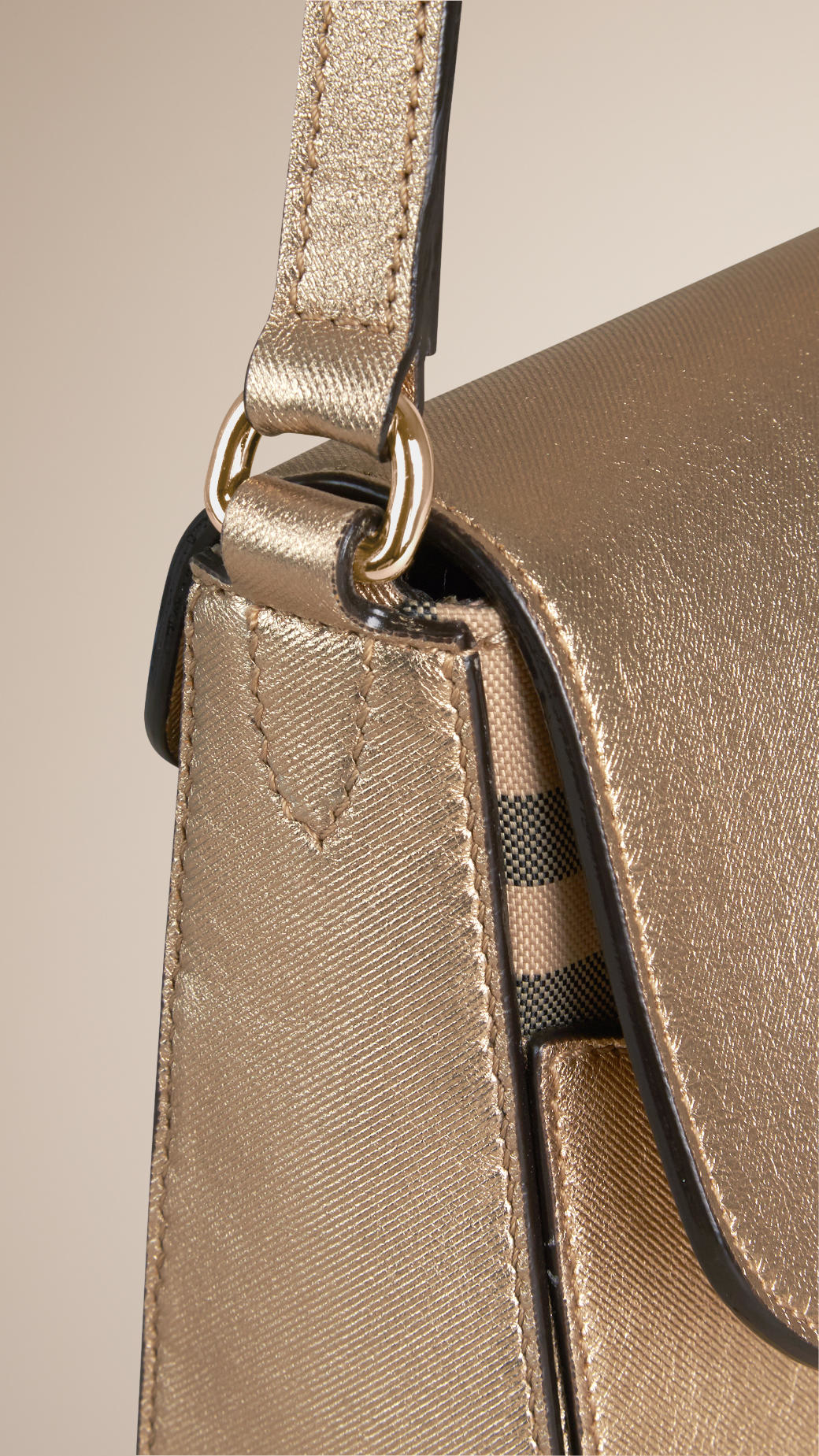 4f571182f52b Lyst - Burberry Small Horseferry Check And Leather Crossbody Bag in ...