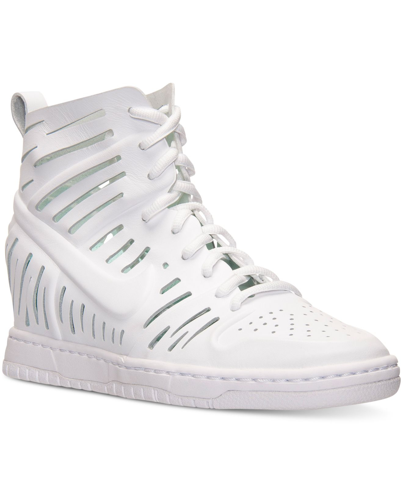 purchase cheap 908bf 122f9 Previously sold at Macy s · Women s Nike Dunk Women s Nike Dunk  Free  shipping and returns on Nike Dunk Sky Hi Wedge Sneaker ...