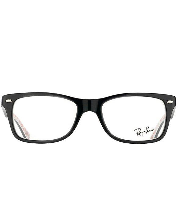 ray ban eyeglasses black and red