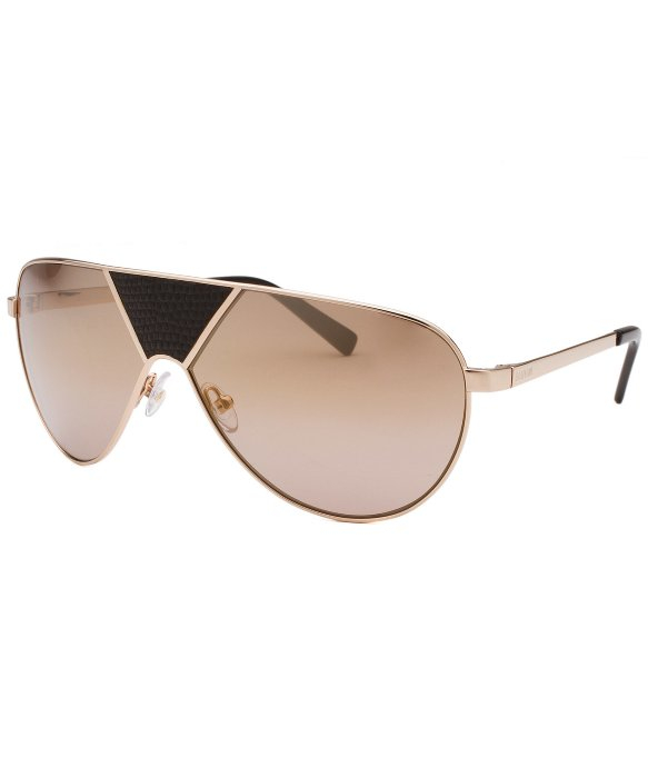Balmain Aviator Sunglasses  balmain shield gold tone sunglasses leather accent in metallic lyst