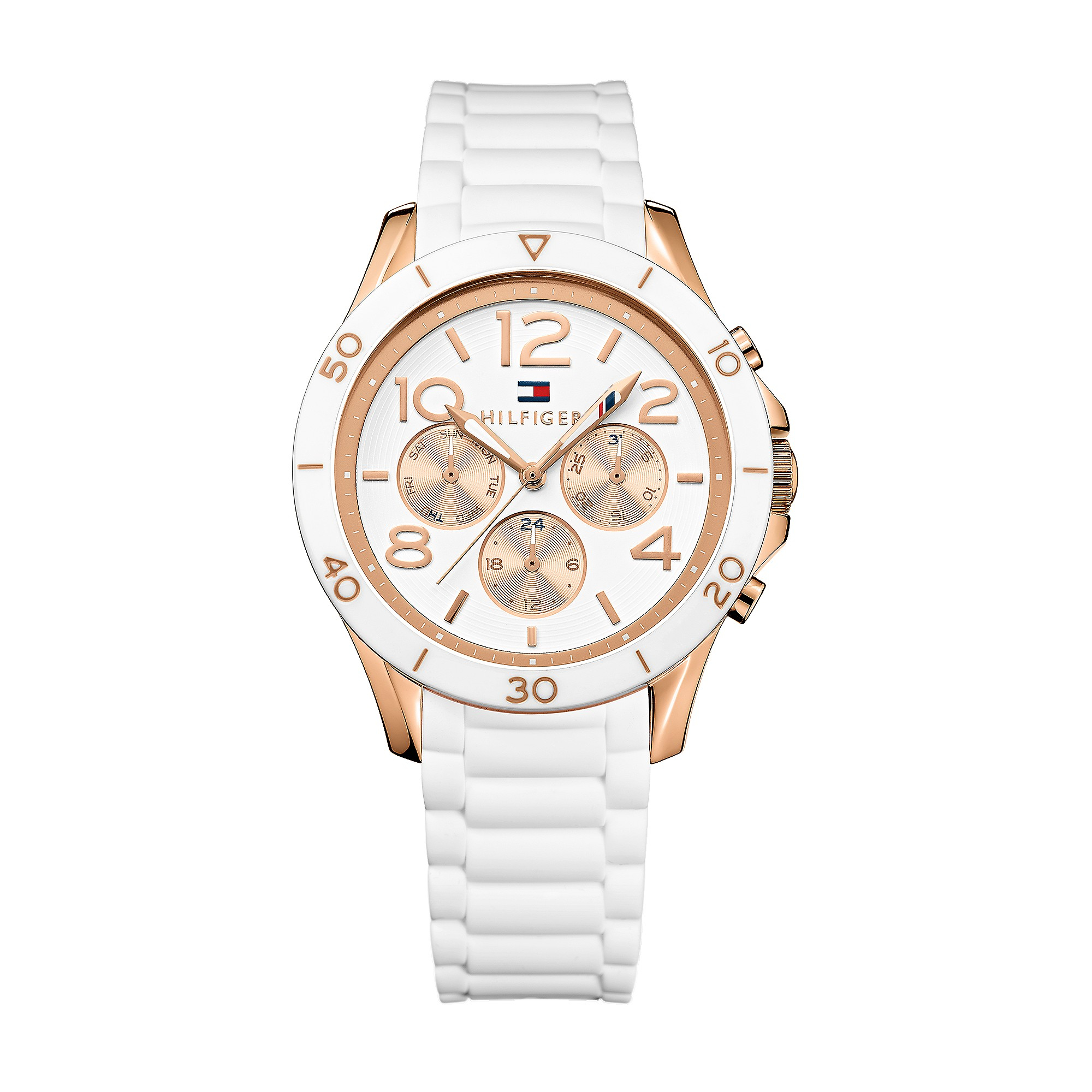 tommy hilfiger sport watch rose gold in gold white with. Black Bedroom Furniture Sets. Home Design Ideas