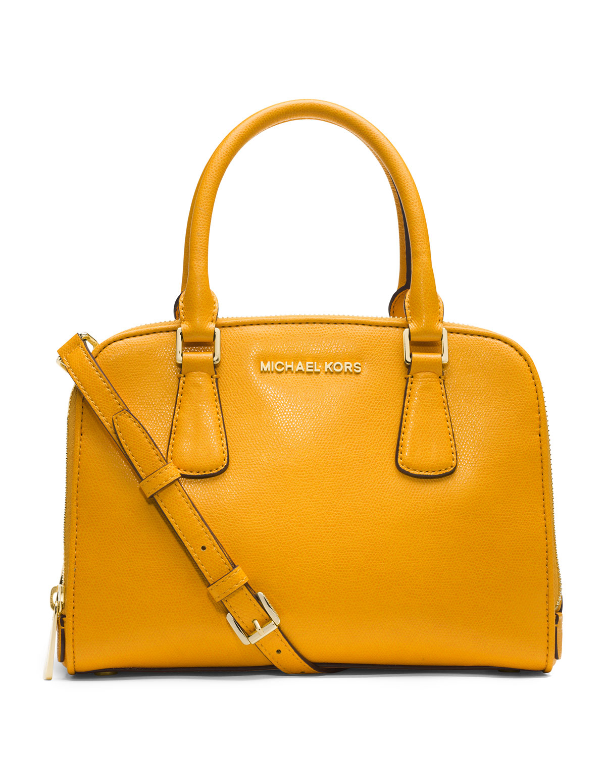 9e1bb3dc3614 ... Lyst - Michael Michael Kors Medium Reese Satchel in Yellow ...