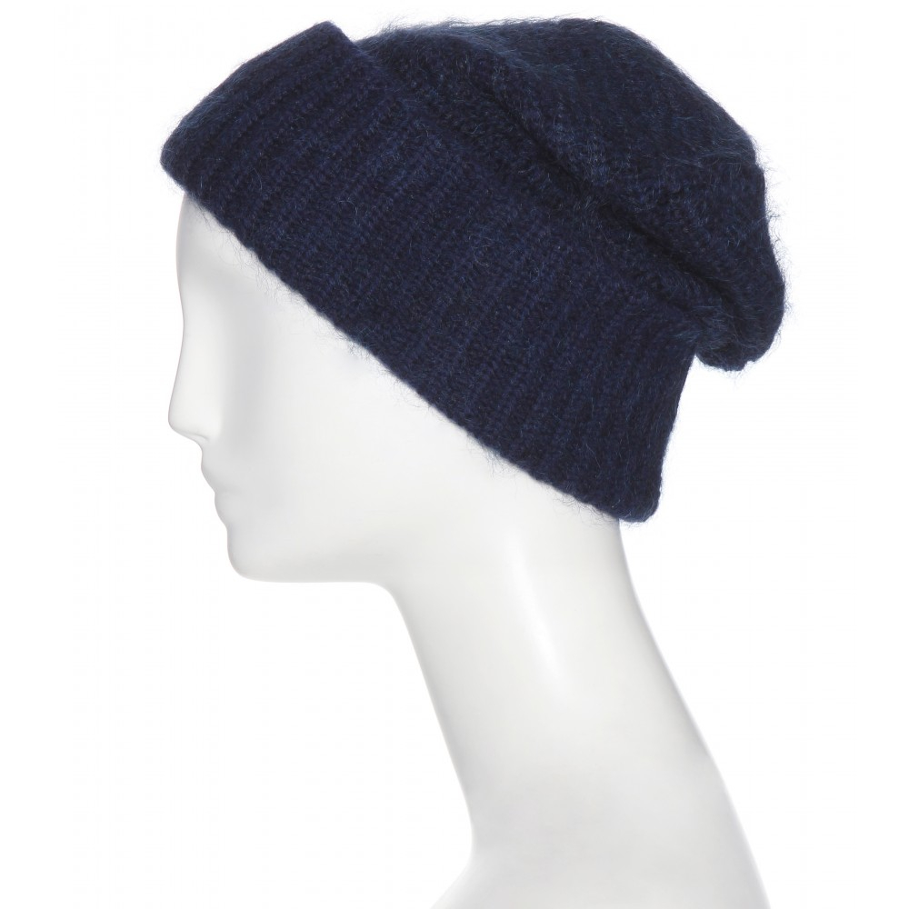 62e267b14562 Acne studios Daphnee Wool And Mohair-Blend Hat in Blue
