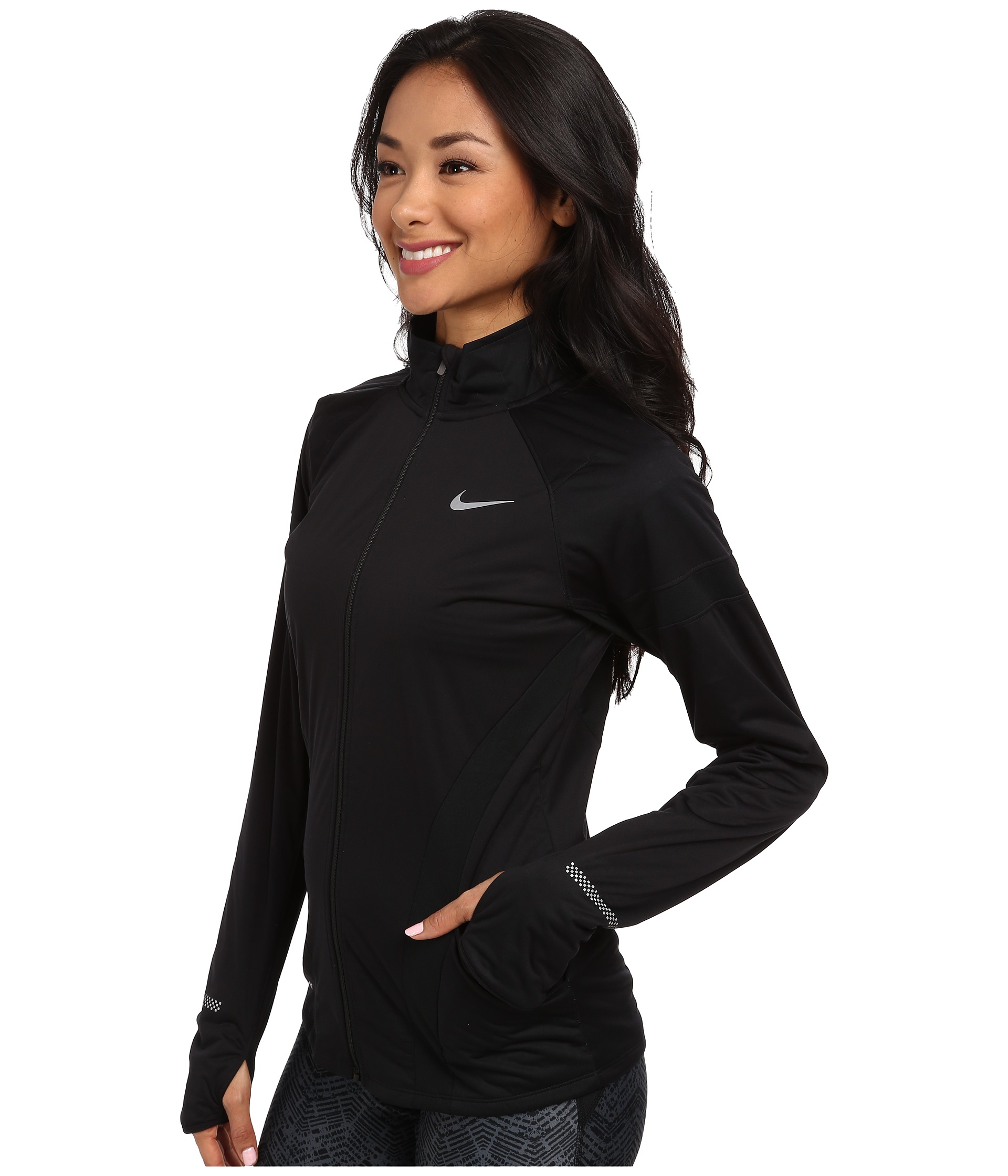 ff1f61d700c5 Lyst - Nike Element Shield Full-Zip Jacket in Black