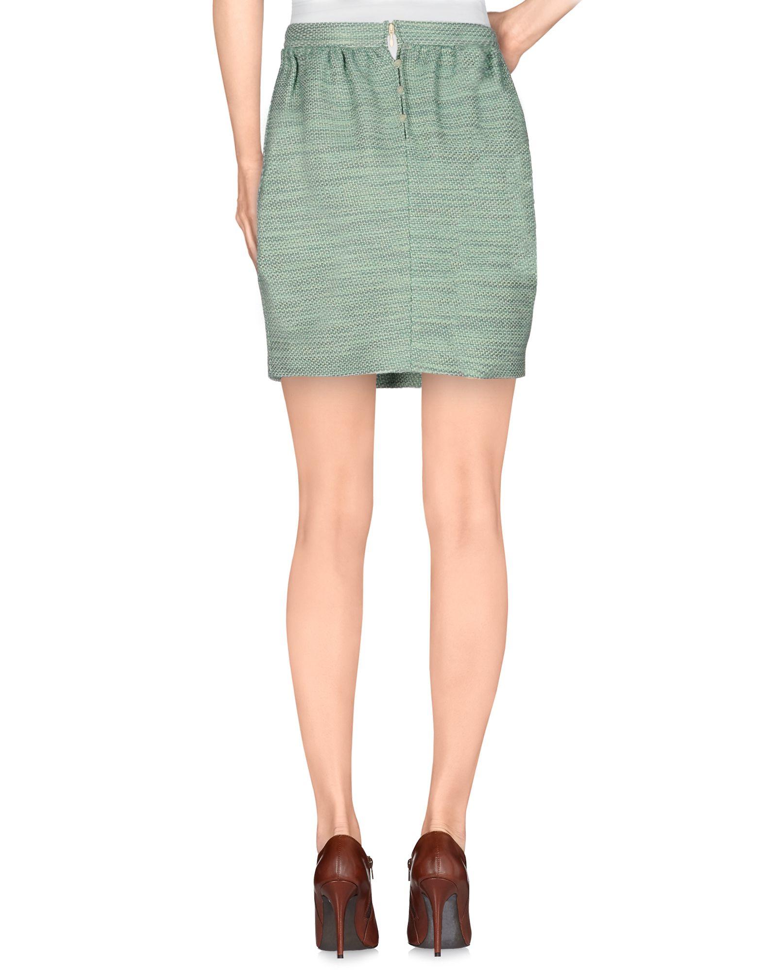 dsquared 178 knee length skirt in green lyst