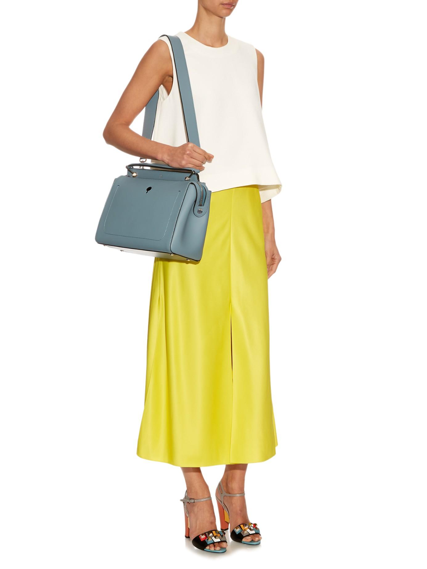 d8d4d17e308f Lyst - Fendi Dotcom Leather Bag in Blue