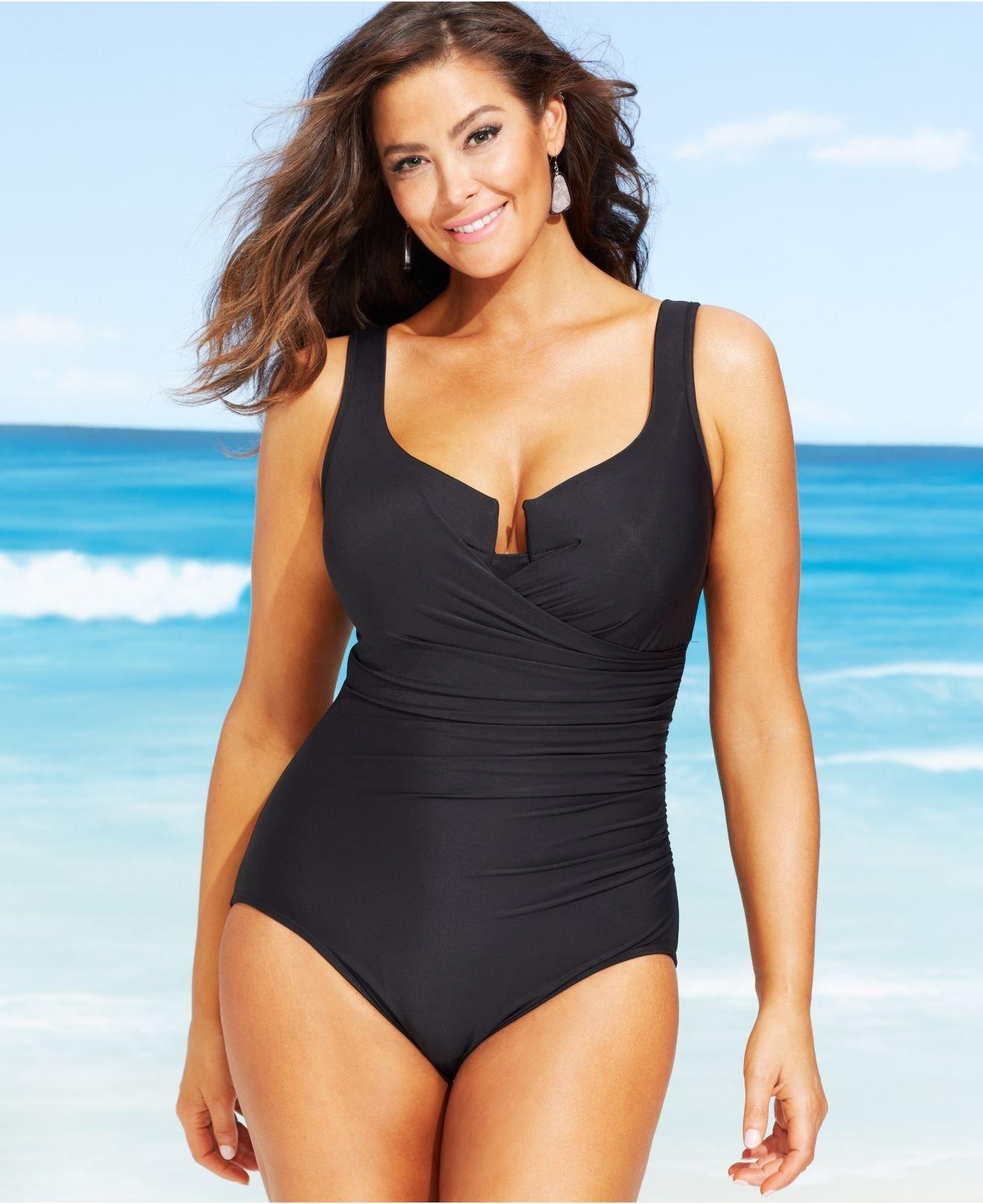 a9104f028e051 Lyst - Miraclesuit Plus Size Escape One-Piece Swimsuit in Black