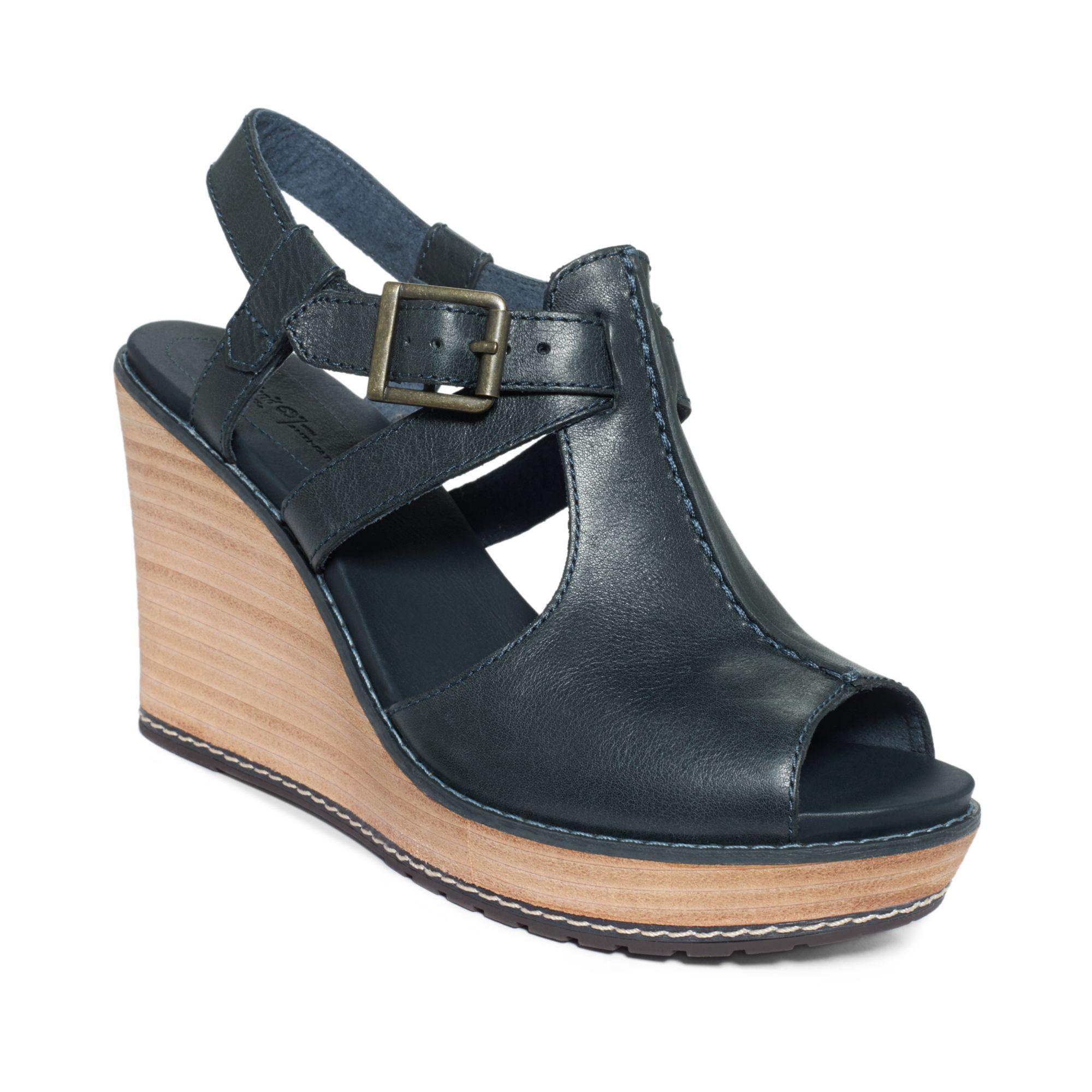 Lyst - Timberland Womens Danforth Platform Wedge Sandals ...