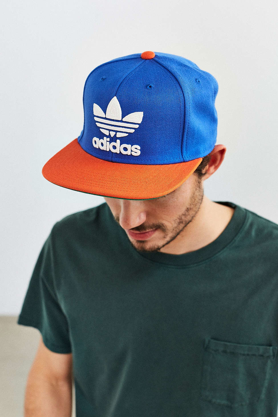 Lyst - adidas Originals Trefoil Snapback Hat in Blue for Men 68629eed8f7