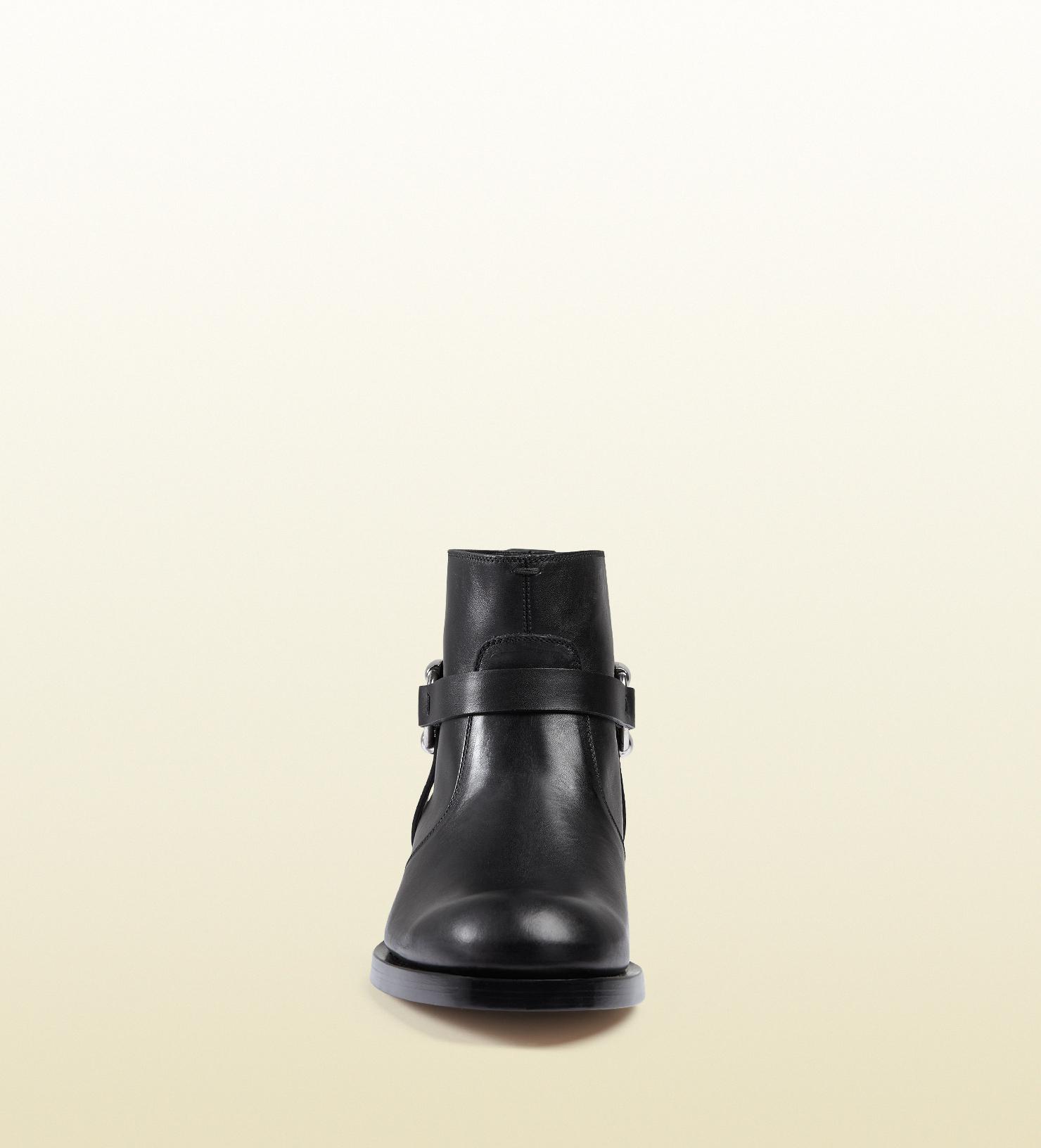 Black gucci boots for men