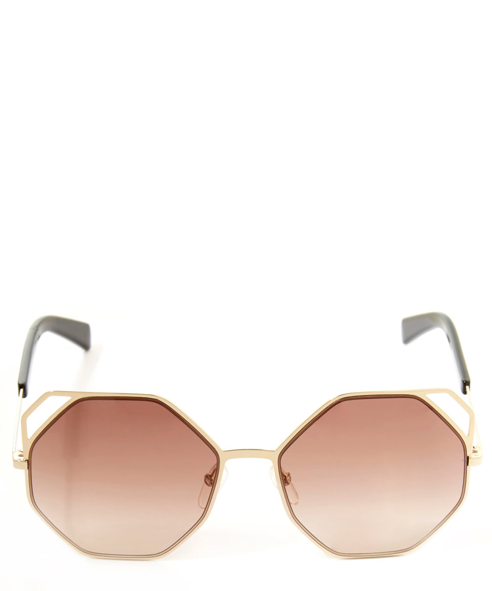 Lyst - Marc By Marc Jacobs Gold-tone Octagon Metal Frame Sunglasses ...