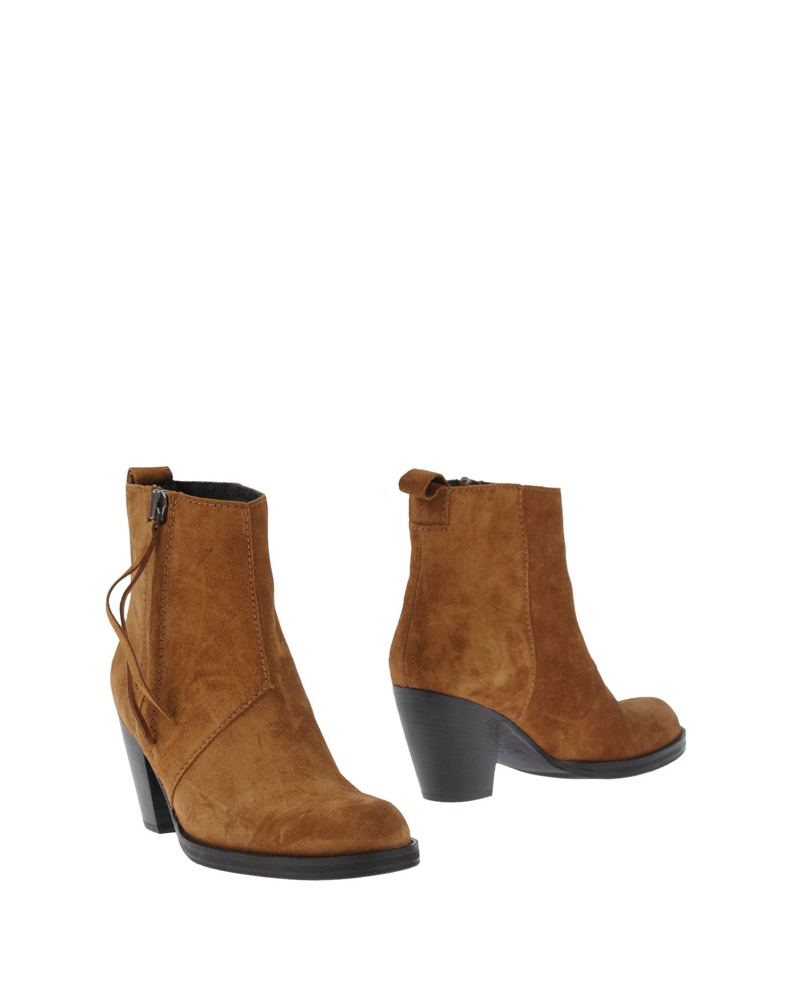 acne studios ankle boots in brown lyst