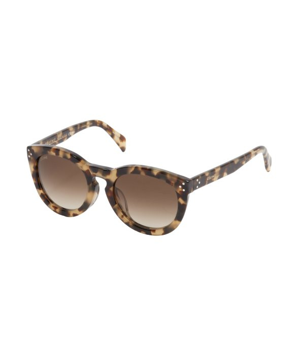 Tortoise Print Sunglasses  céline brown tortoise print round frame new audrey sunglasses in