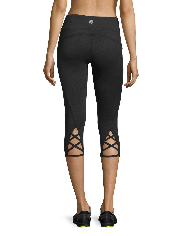 9a1b9e2c1769b Balance Collection Lace-up-cuff Capri Leggings in Black - Lyst