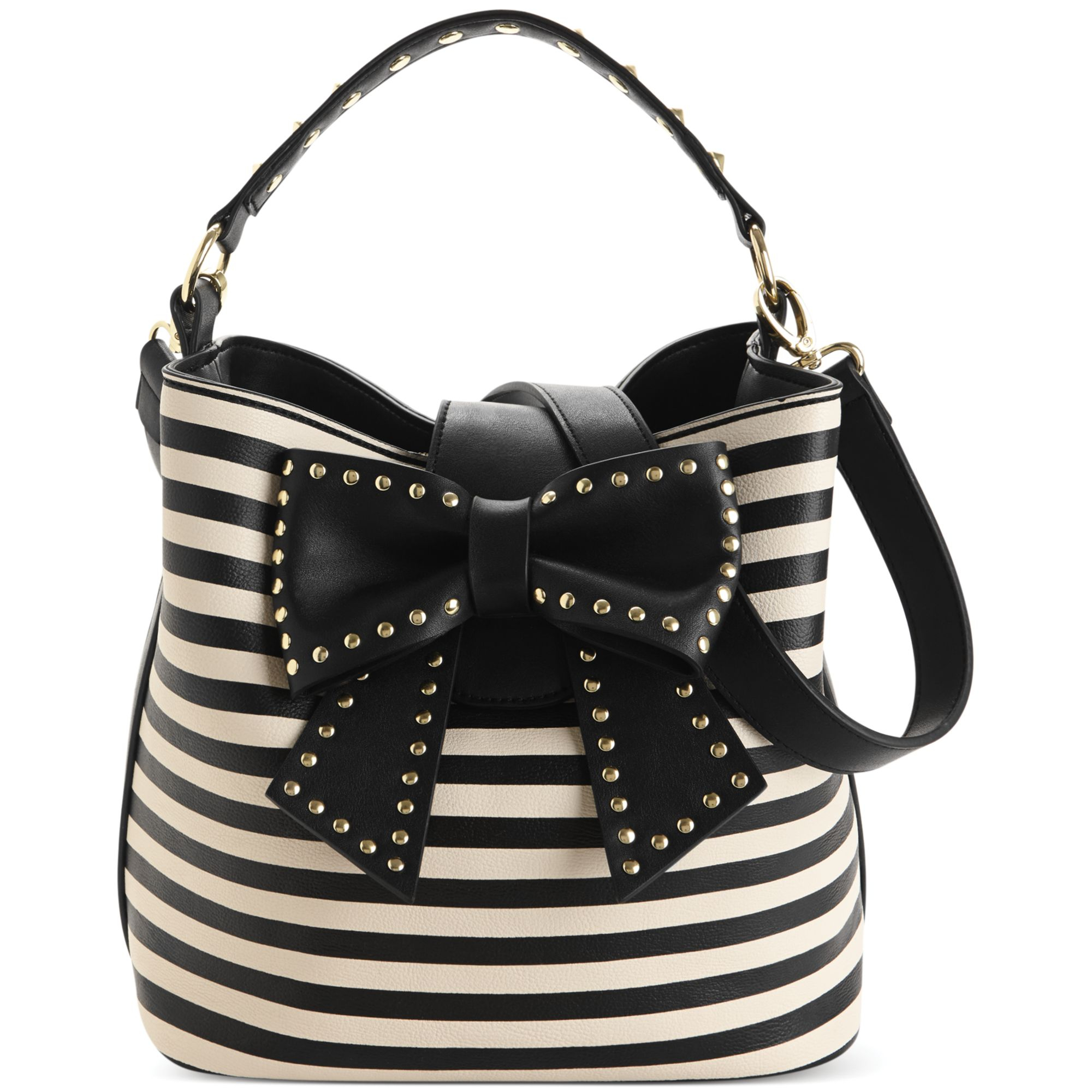 Lyst Betsey Johnson Hopeless Bucket Bag In Black