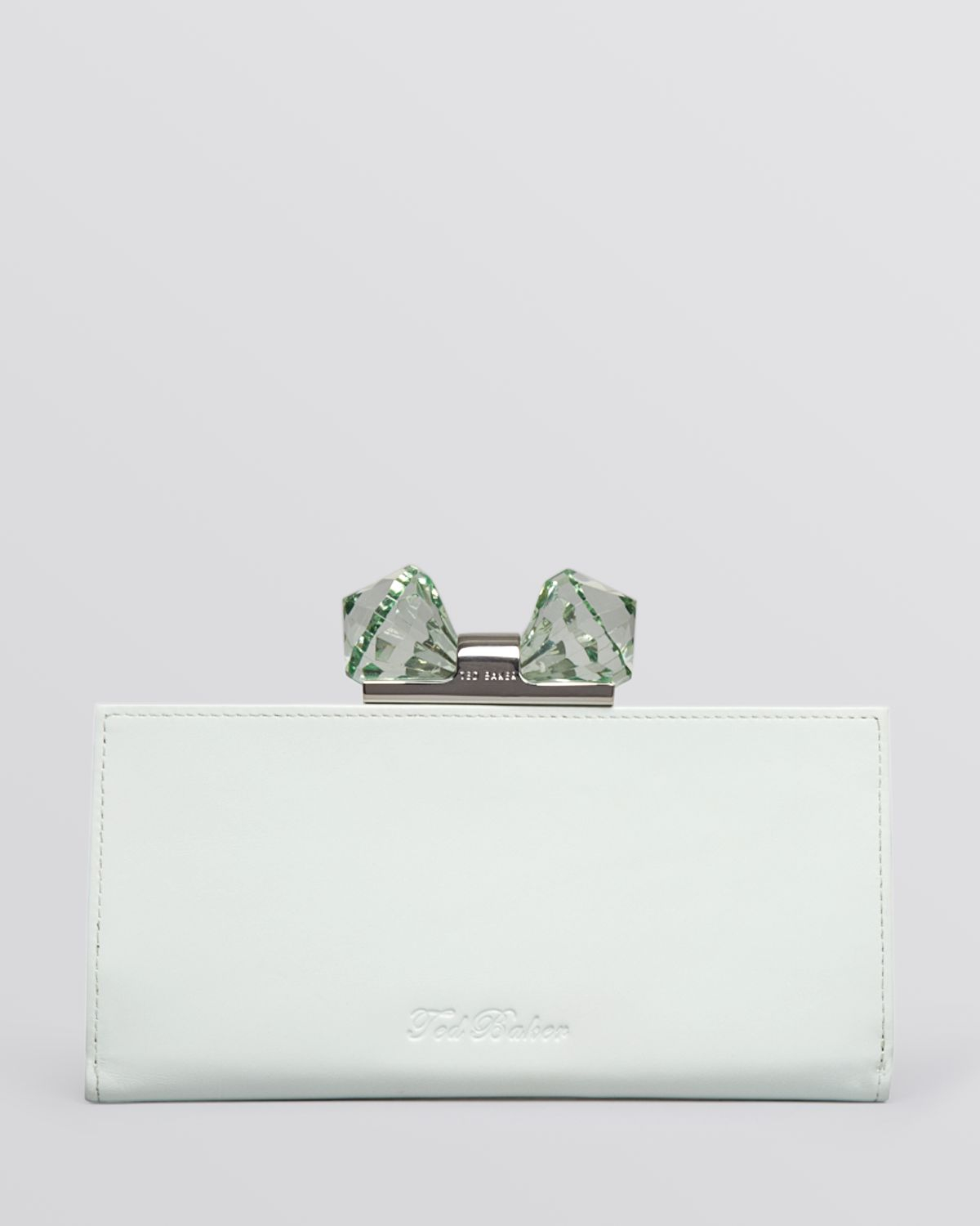 cb5fb9362d5c Lyst - Ted Baker Wallet Crystal Bow Matinee Continental in Green