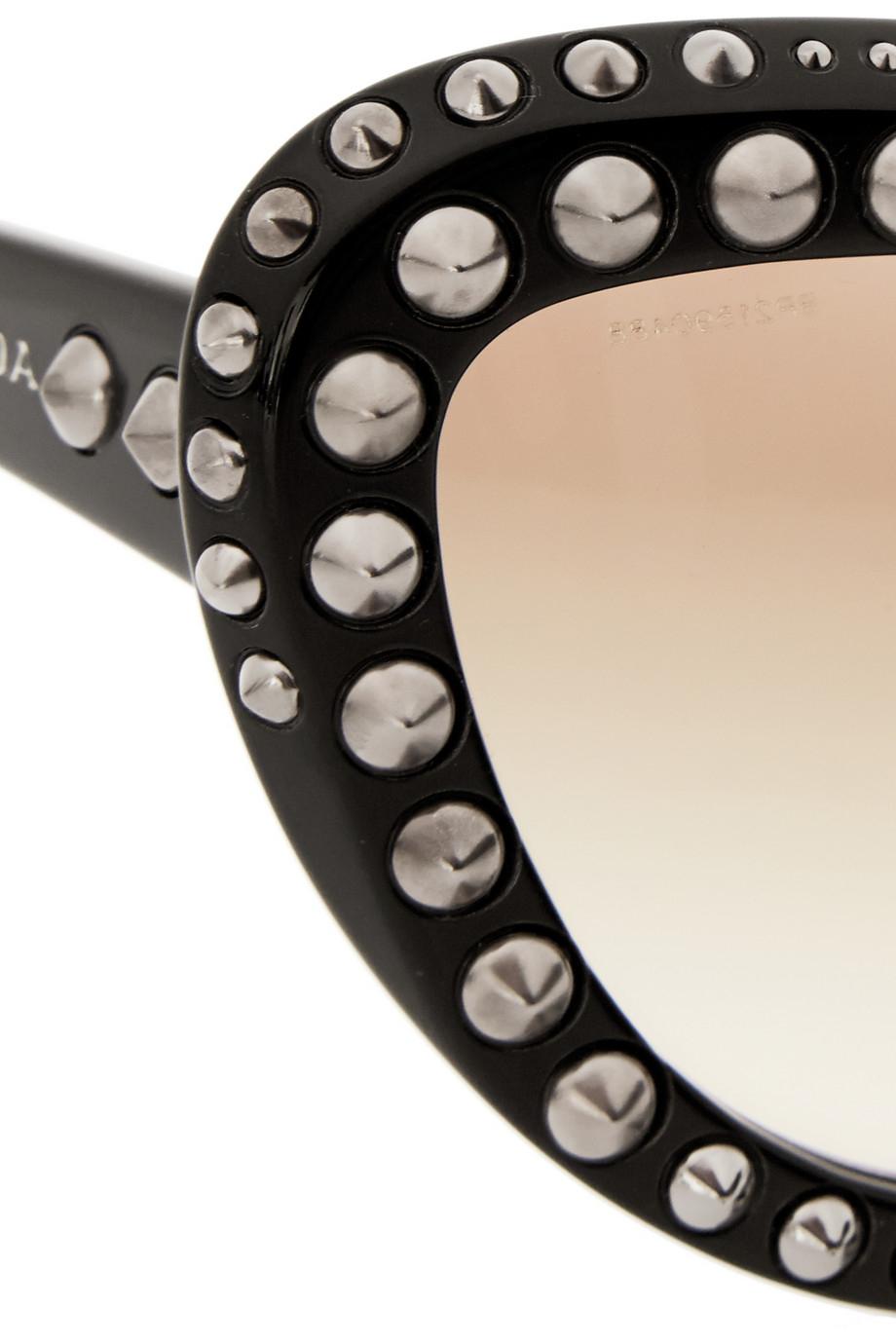 496dd41f3b6 Prada Studded Cat Eye Sunglasses For Women