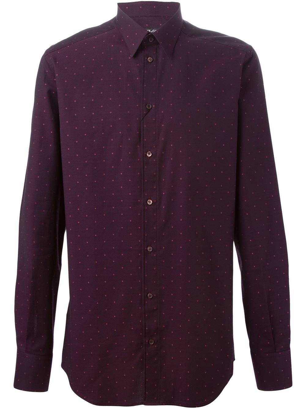 Dolce Gabbana Mini Embroidered Detail Shirt In Purple
