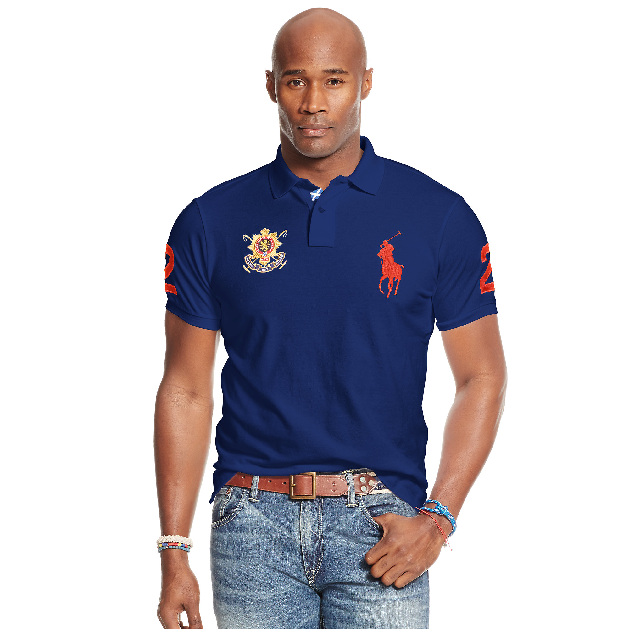 0c044e6f Lyst - Pink Pony Blackwatch Classic-fit Polo in Blue for Men