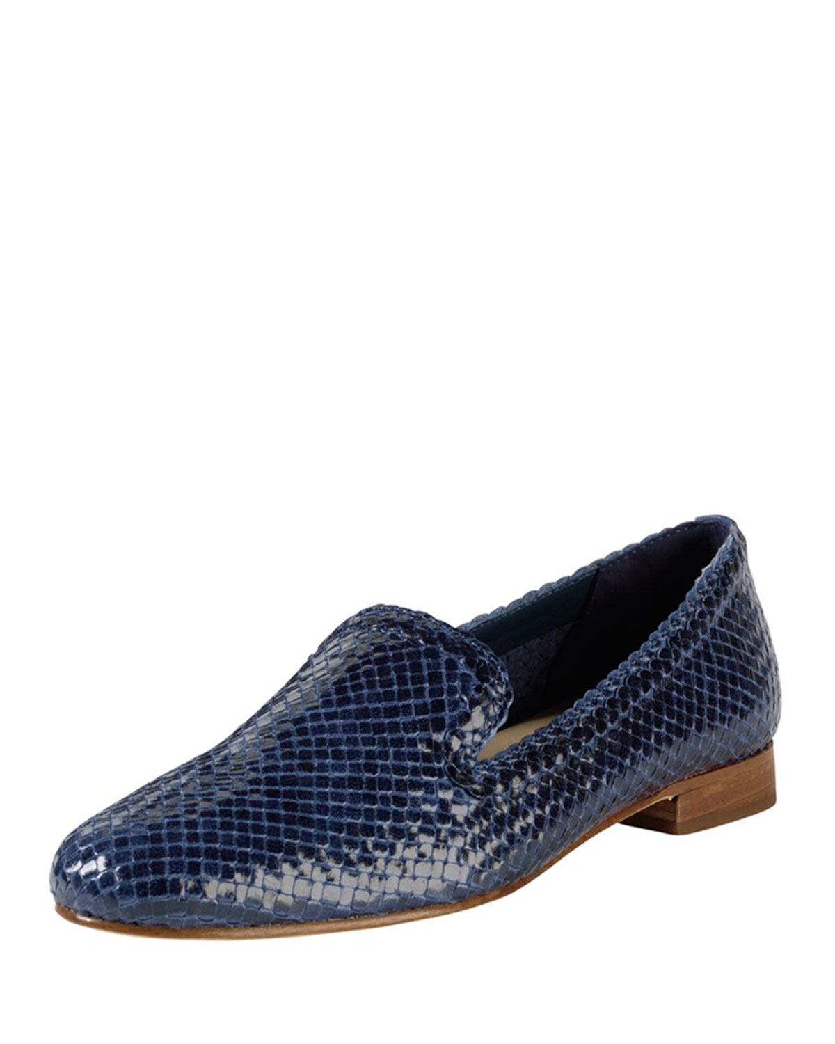 Cole Haan Sabrina Woven Leather Loafer In Blue Lyst