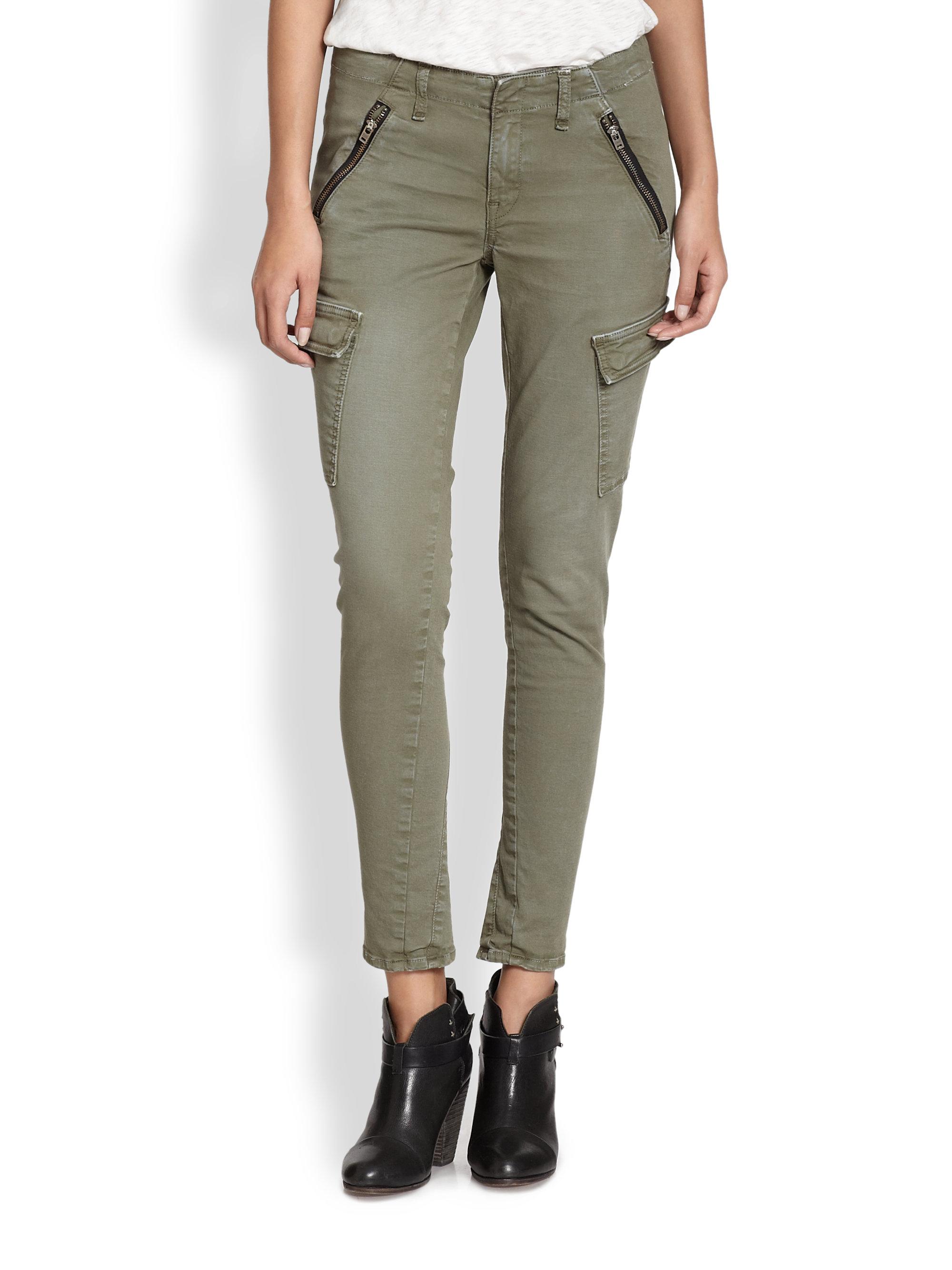 Lyst Rag Amp Bone Bowery Skinny Cargo Pants In Green