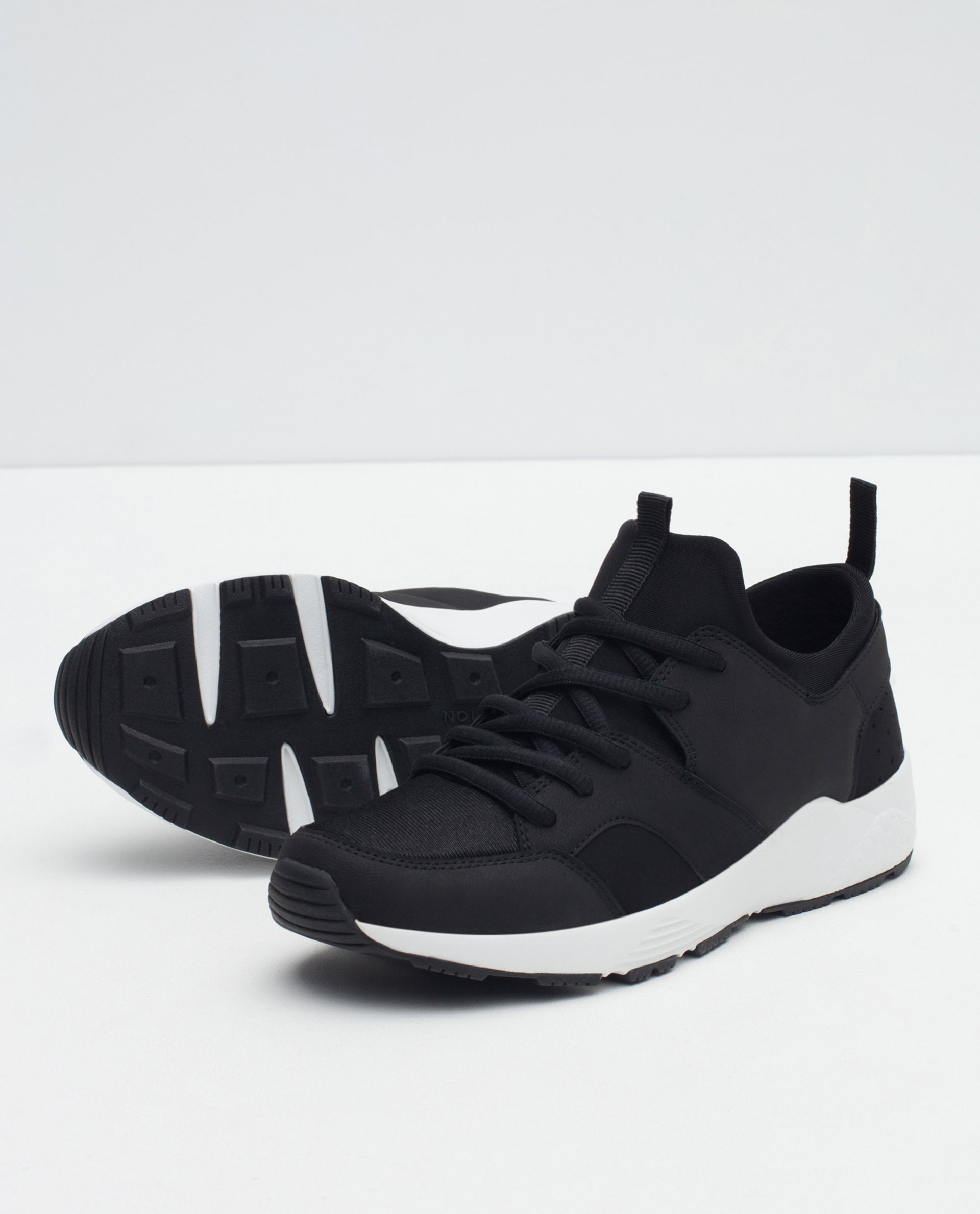 Zara Combination Sneakers in Black for Men | Lyst