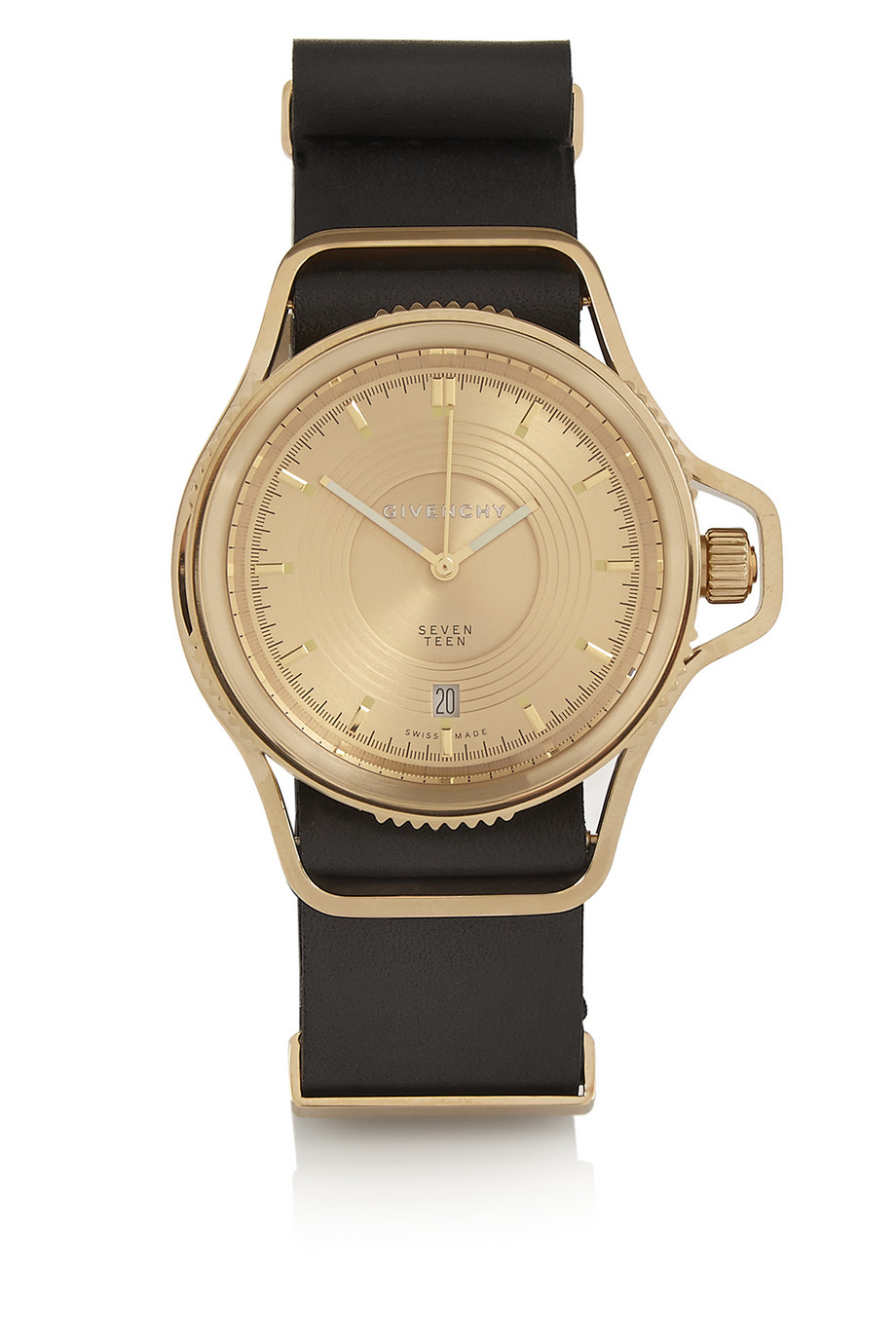 Lyst givenchy seventeen watch in gold pvd plated stainless steel in black for Watches gold