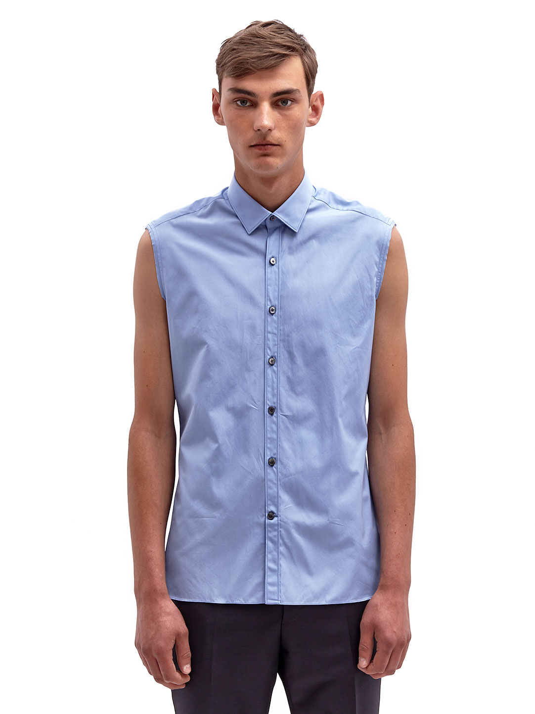 Lyst - Lanvin Mens Sleeveless Shirt in Blue for Men