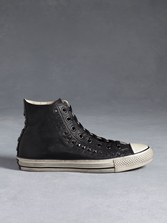 sale retailer 1548a 37c3f John Varvatos Chuck Taylor Studded High Top in Black for Men - Lyst