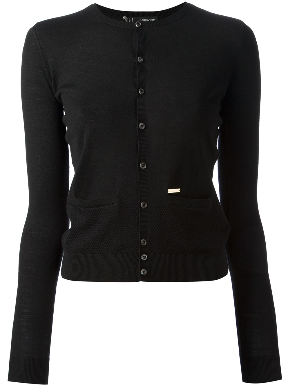Dsquared² Button Up Cardigan in Black | Lyst