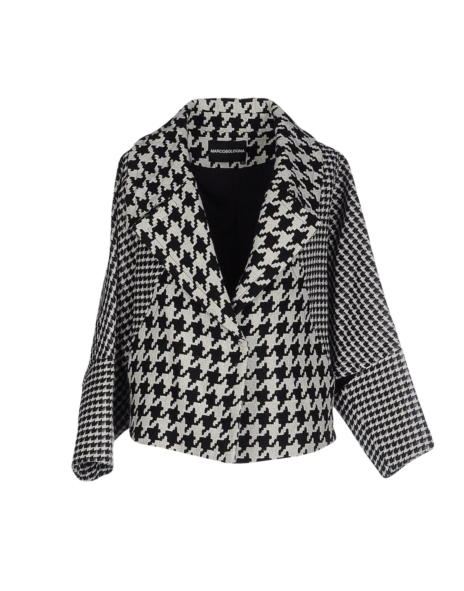 Lyst Marco Bologna Oversized Houndstooth Jacket In Black