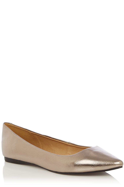 Silver Carvela Flat Shoe