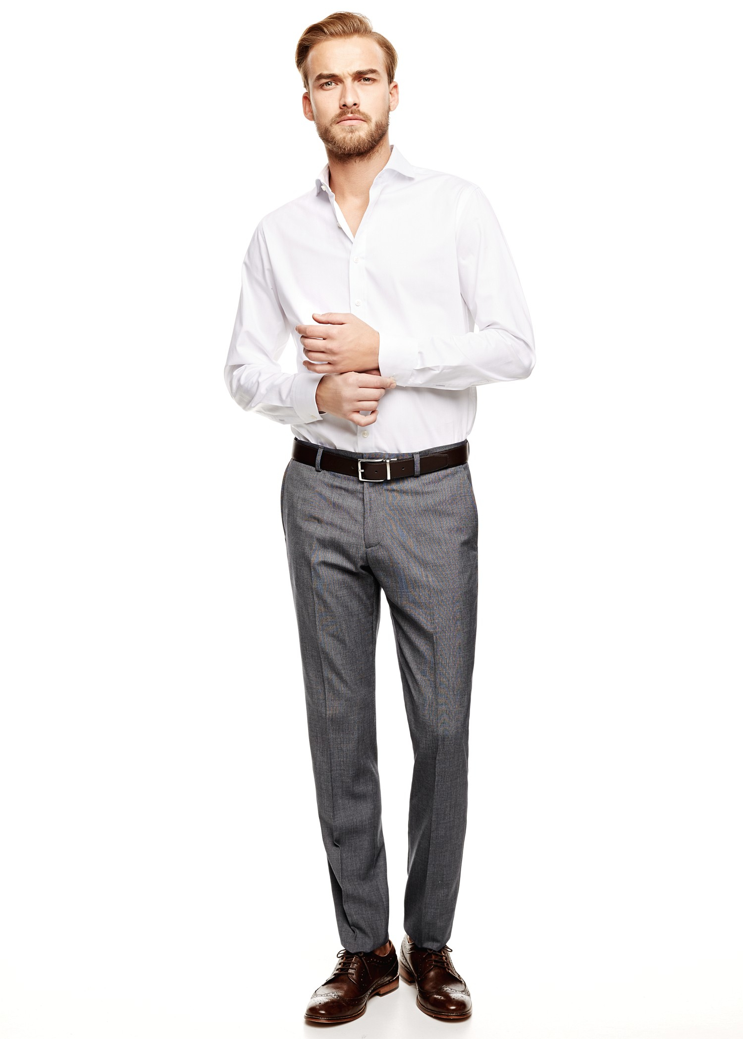 Mango Slimfit Suit Trousers in Gray for Men | Lyst
