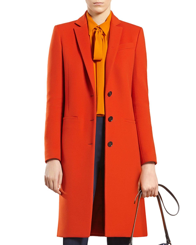 Gucci Dark Orange Wool Coat in Orange | Lyst