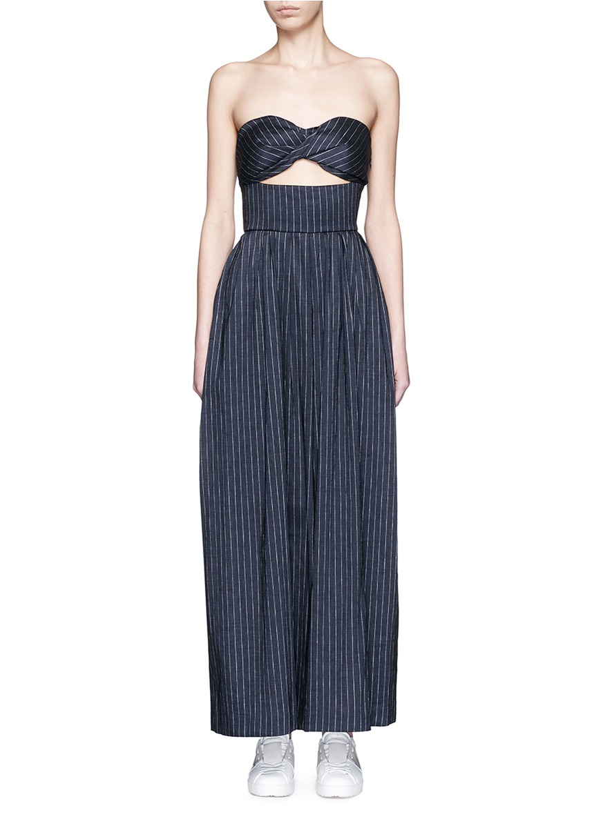 5ede47702c3 Lyst - Rosie Assoulin  morning After  Pinstripe Cutout Cotton ...