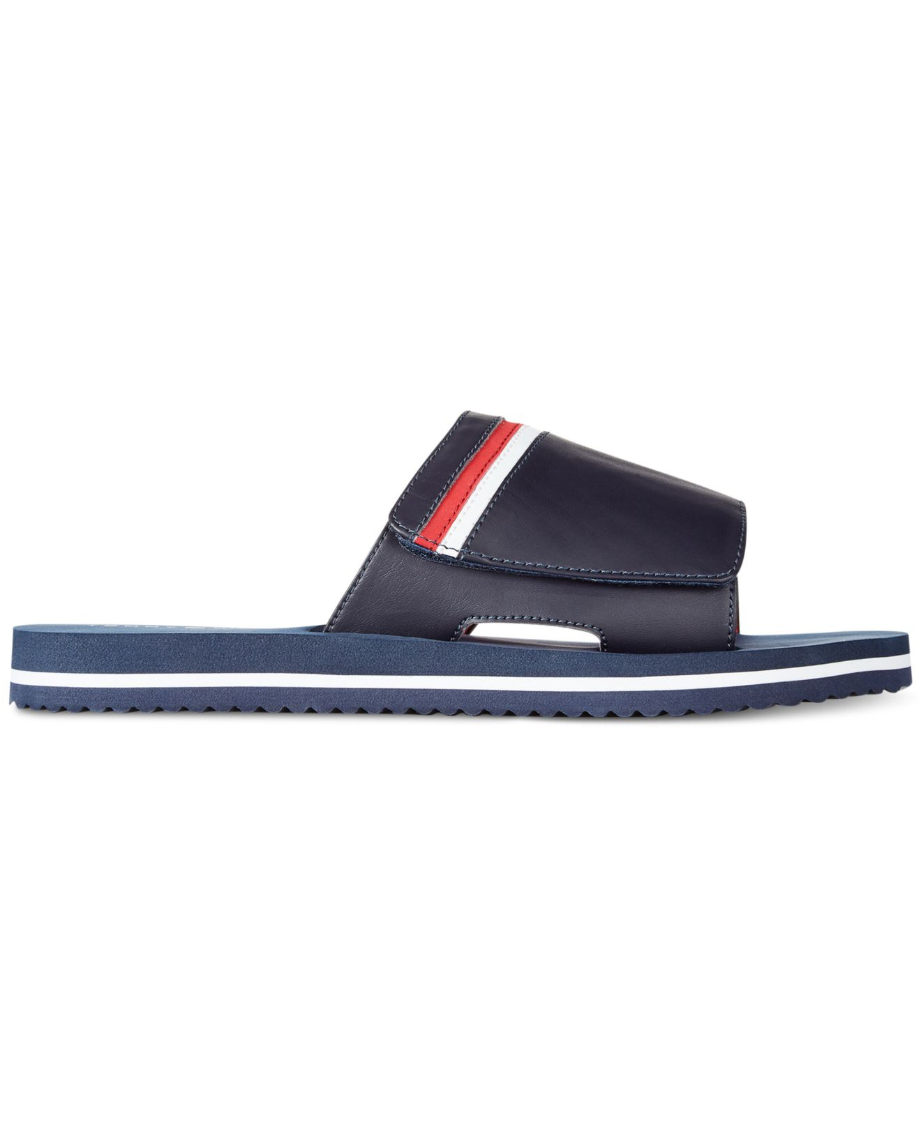 Tommy Hilfiger Tommy Hlfiger Snyder Slides In Blue For Men