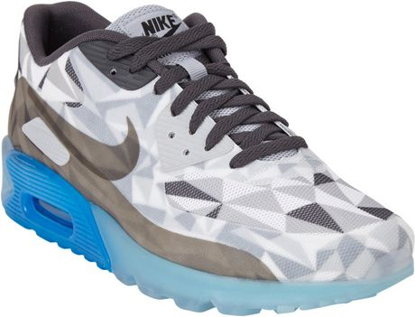 Hommes Nike Air Max 90 Ice - Chaussures Nike Air Max 90 Ice Fonctionnement Chaussures De Tennis Gris De Gros