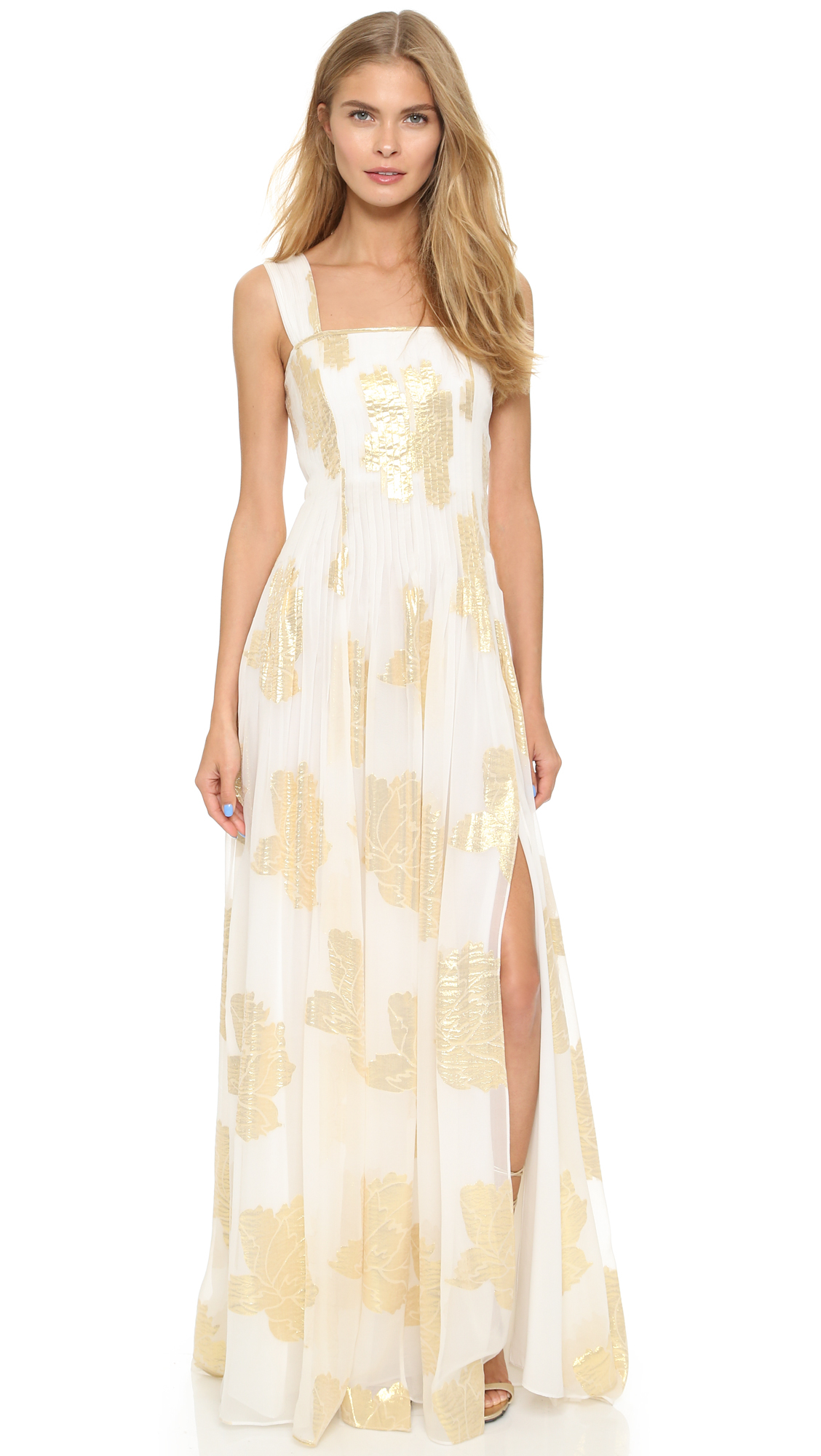 Lyst diane von furstenberg lillie maxi dress ivory for Diane von furstenberg clothes