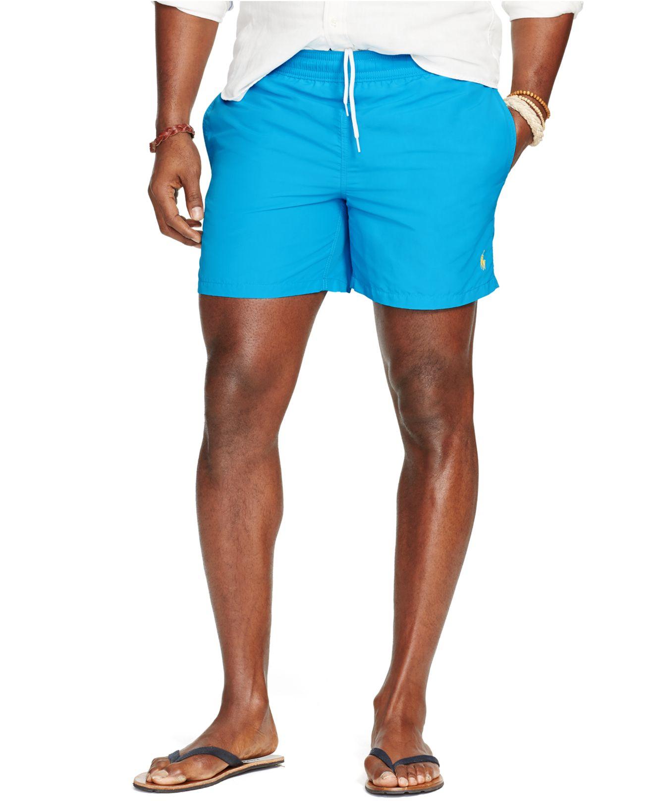 99668f29aa Polo Ralph Lauren Big And Tall Nylon Hawaiian Swim Shorts in Blue ...