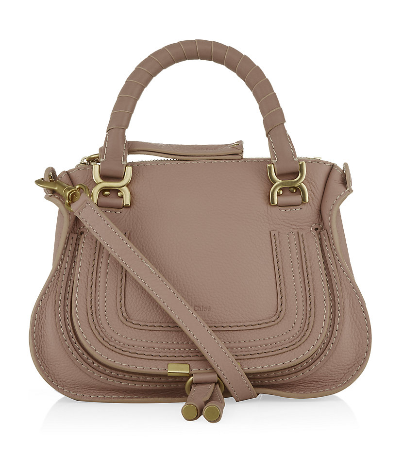 Chloé Medium Marcie Shoulder Bag in Brown (pink) | Lyst