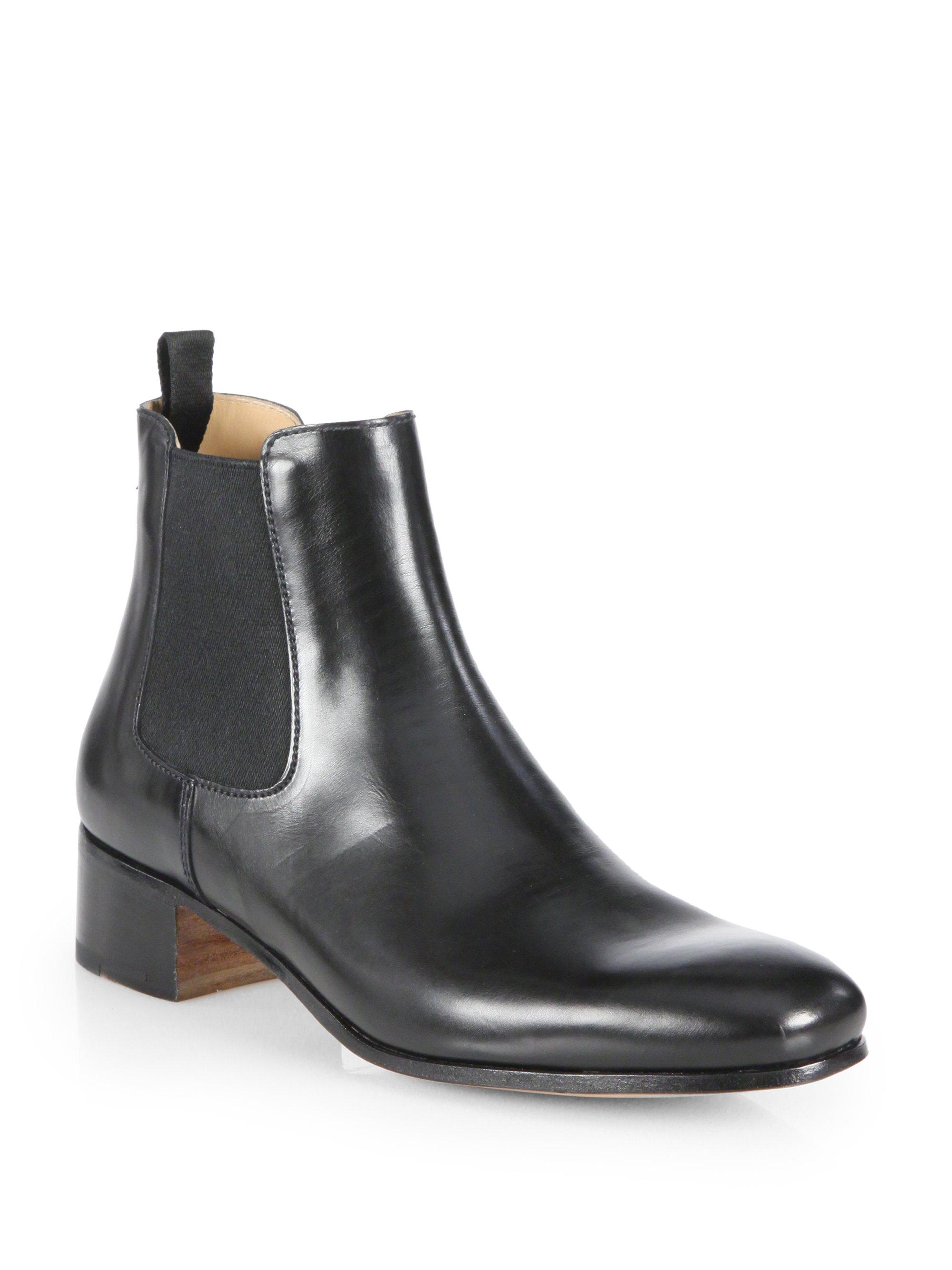 Prada Leather Chelsea Boots in Black for Men (NERO-BLACK) | Lyst