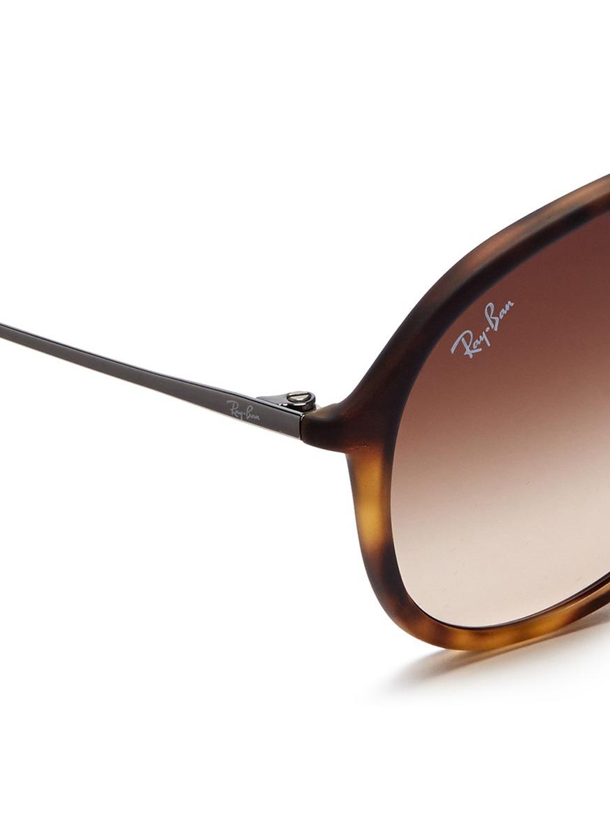 Ray Ban Tortoise Aviator Sunglasses  ray ban alex matte tortoises acetate aviator sunglasses in