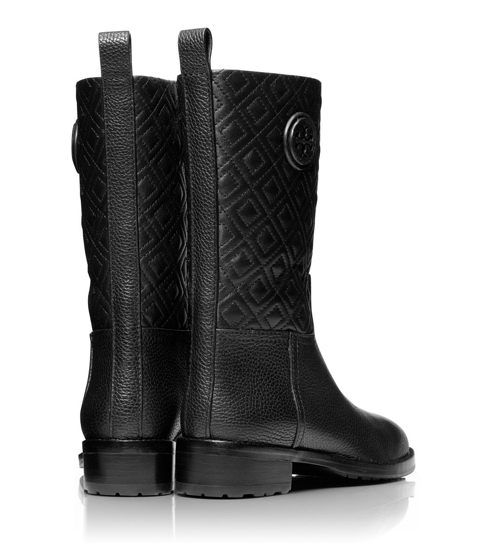 86ba6a9ee2bb Lyst - Tory Burch Marion Quilted Bootie in Black