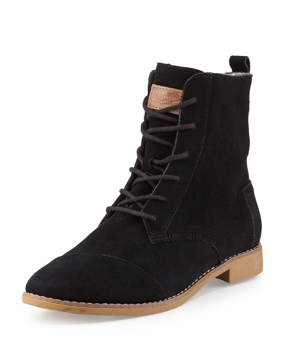 Toms Alboot Suede Ankle Boot In Black Lyst