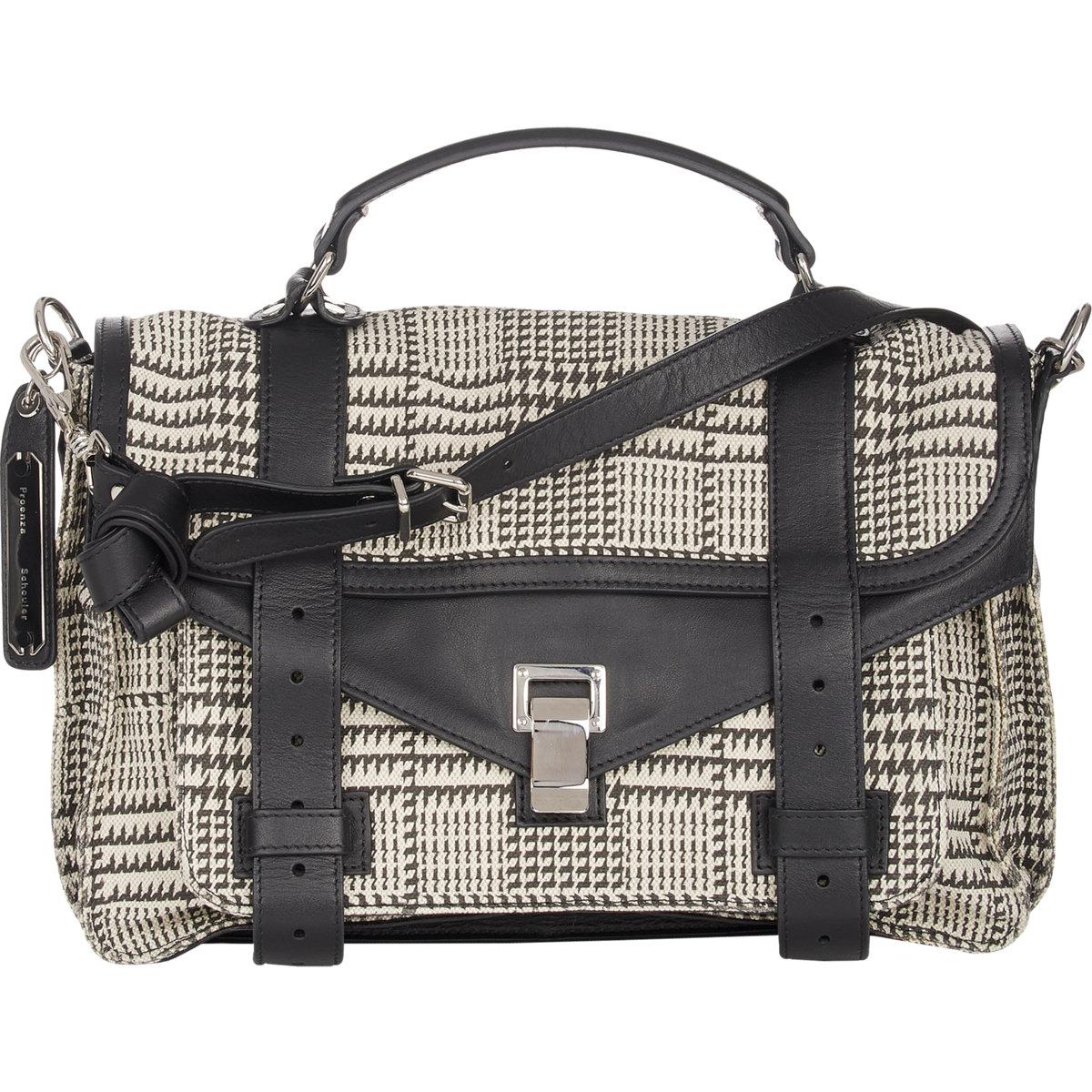 37d84ae4c436 Proenza Schouler Houndstooth Ps1 Medium Shoulder Bag - Lyst