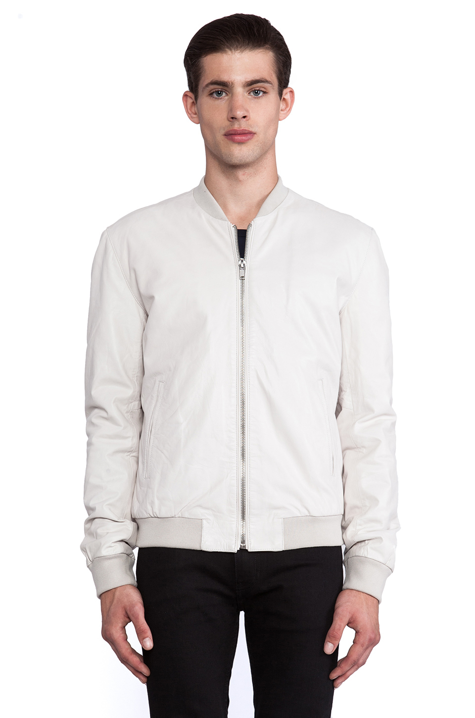 Blk dnm Leather Jacket 81 in White for Men | Lyst